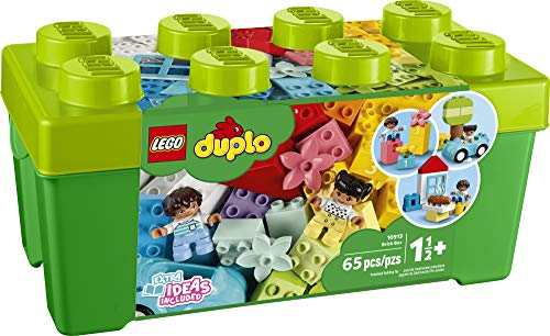 51cuYpdItuL - LEGO DUPLO Classic Brick Box 10913 First Set with Storage Box, Great Educational Toy for Toddlers 18 Months and up, New 2020 (65 Pieces)