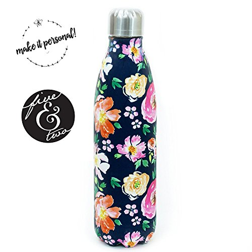 Mary Square Stainless Steel 17 oz Water Bottle Vintage Floral