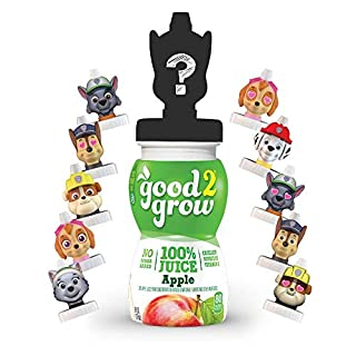 good2grow Paw Patrol Collector 100% Apple Juice, 6-pack of 6-Ounce Spill Proof Character Top Bottles, Non-GMO with no Sugar Added and Excellent Source of Vitamin C (Character Tops May Vary)