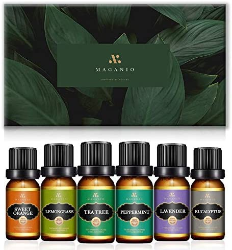 MAGANIO Essential Oils Gift Set Top 6 [A+ RAW Material] 100% Pure Natural, 10ML Therapeutic Grade Undiluted Oils Kit for Diffuser for Home, Aromatherapy & Massage – Classic Collection