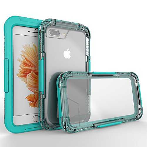 (iPhone 7 Plus/iPhone 8 Plus Waterproof Case, Lifeepro Case, Full Body Protective, Shockproof, Scratch-proof, Dust-proof Case With Screen Protector - Mint)