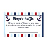 Baby : Party Printery Nautical Diaper Raffle Cards for a Baby Shower - 50 Count