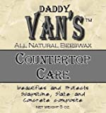 wax for soapstone - Daddy Van's All Natural Beeswax Countertop Care for Soapstone, Slate, Concrete Composite and Butcher Block Counter Tops - Food Safe, Chemical-Free and Non-Toxic - A Little Goes a Long Way with this 5 Ounce Tin