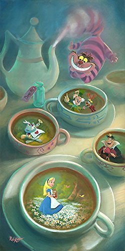 Alice in Wonderland Imagination is Brewing Cheshire Cat Rob Kaz AP 10 30x15 Canvas Signed - Limited Edition Numbered Ap