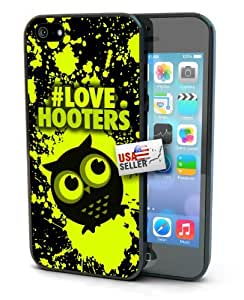 Owl Black Neon Volt Splatter Hashtag Love Hooters Art Black Plastic Cover Case for iphone 6 plus 5.5