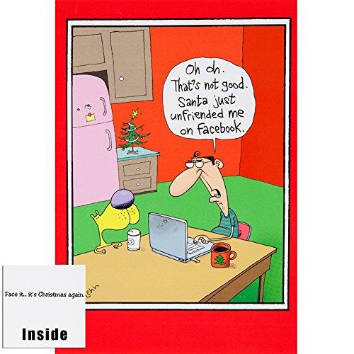 (Old Glory - Santa Unfriended Christmas Card )