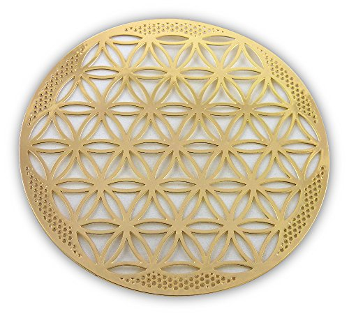 Flower of Life 18K Gold Plated Healing - Gold Plated Flower 18k