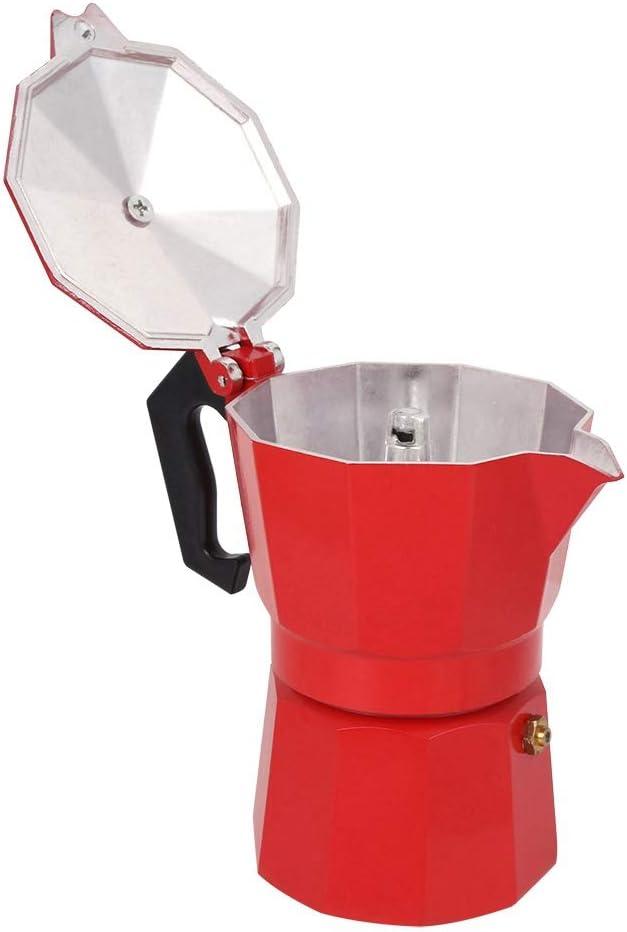 Black 300ML 6‑Cup Espresso Maker Moka Pot Capacity Aluminum Coffee ...