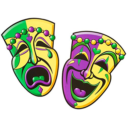 Comedy & Tragedy Face Cutouts   -