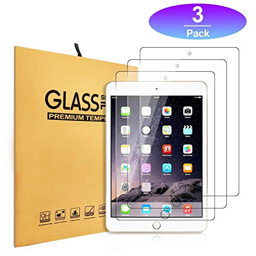 iPad 9.7 Tempered Glass Screen Protector [3-Pack] (2018/2017) / iPad Air 2 / iPad Pro 9.7 in/iPad Air Screen Protector,Apple Pencil Compatible, Anti-Scratch …