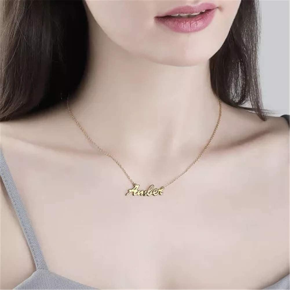 Personalized Names Copper Necklace Pendant in 18k Gold Pated Copper Custom Made with Any Name
