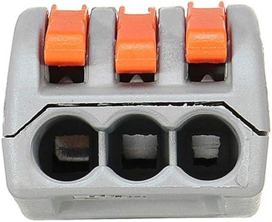 30x Cable Eléctrico Conectores Terminales de Cable de Bloqueo Rápida Empalme auto bloqueo Fo