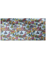 Small Town Rectangle Tablecloth Large Dining Room Kitchen Woven Polyester Custom Print