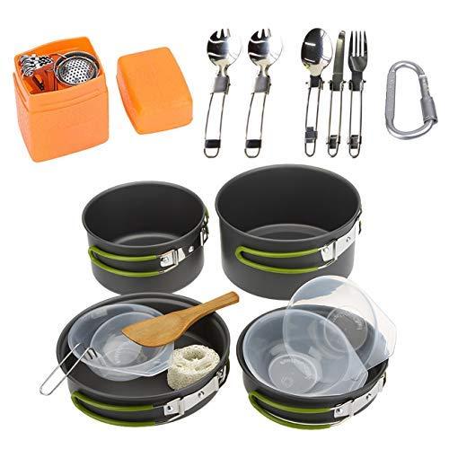 JMsDream Portable Pot Set Camping Picnic Cookware Outdoor