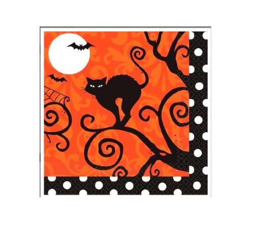 Halloween Beverage Napkins is one of our favorite fun camping Halloween decorations for your campsite and ideas for decorating your RV