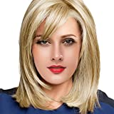 BLONDE UNICORN Bob Wig Human Hair Blonde Wigs With Bangs for Women Daily Use
