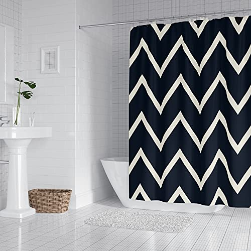 Shower Curtain, Kornculor Waterproof Polyester Fabric Bath Curtains with 12 Plastic Hooks, 72