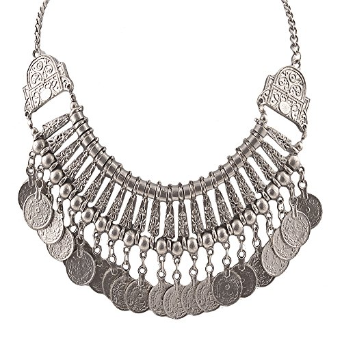 Zephyrr Fashion Coin Choker Turkish Style Necklace for Women Boho G