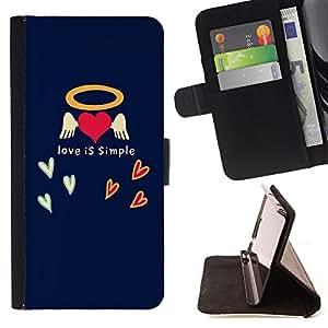 Dragon Case - FOR Sony Xperia Z2 D6502 - love is simple - Caja de la carpeta del caso en folio de cuero del tirš®n de la cubierta protectora Shell