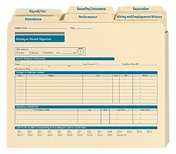 Amazon.com : ComplyRight Employee Record Organizer Folders ...
