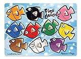 Melissa & Doug Wooden Peg Puzzle - Fish Colours