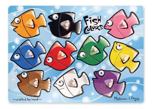 Melissa & Doug - 13268 - Puzzle - Fish Colours Mix n Match - Peg Match N Puzzle Mix