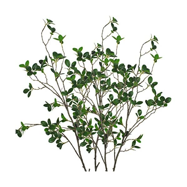 Warmter 43.3 Inch Artificial Eucalytus Green Branches Pine Evergreen Plant Tree Branch for Home Wedding Garden Office 2 Pcs