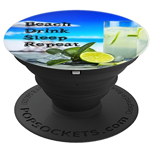 - Funtastic Style Alcohol PopSockets Beach Drink Sleep Repeat - PopSockets Grip and Stand for Phones and Tablets