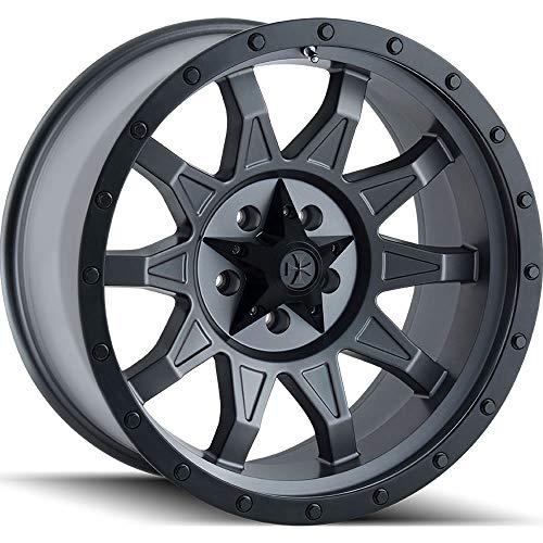 17x8.5 Dirty Life ROADKILL Wheel 6mm ACORN Lug Type 6x135 MATTE GUNMETAL/BLACK MATTE GUNMETAL/BLACK BEADLOCK