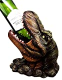 Atlantic Collectibles Prehistoric Dinosaur T-Rex Head 10.75'' Tall Wine Bottle Holder Caddy Figurine
