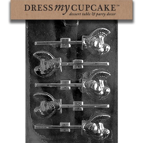 Dress My Cupcake DMCT012 Chocolate Candy Mold, Small Turkey Lollipop, Thanksgiving ()