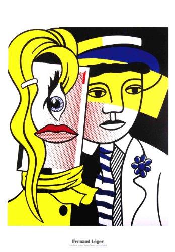 Roy Lichtenstein Lithograph - Roy Lichtenstein-Stepping Out-2004 Poster