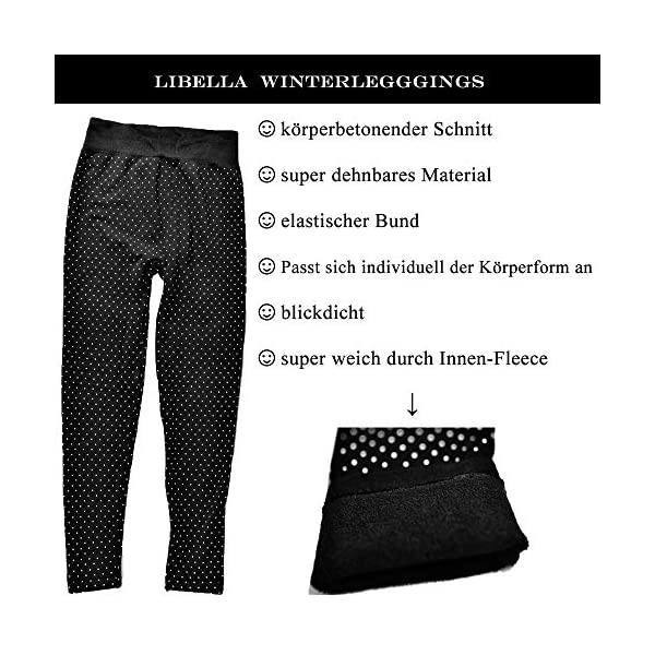 GoVIA Libella Legging Pantalon Collant Thermique Femme avec intérieur en Polaire en 7 Couleurs Extra Chaud Taille Unique…