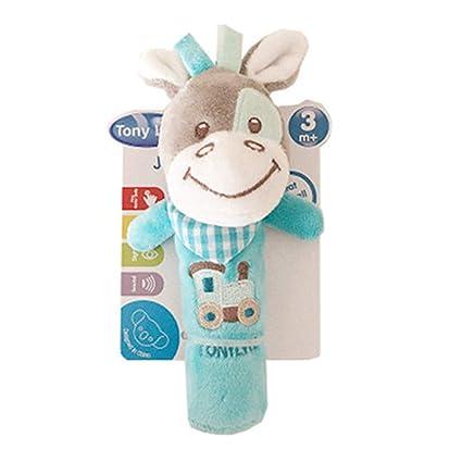 DDG EDMMS ternero bebé sonajero juguete de peluche juguete que cuelga cuna, cochecito de bebé coche de juguete cama de asiento, juguete del desarrollo ...