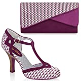 Ruby Shoo UK 6 EU 39 Pink Hatty Fabric T-Bar Pumps & Sydney Bag