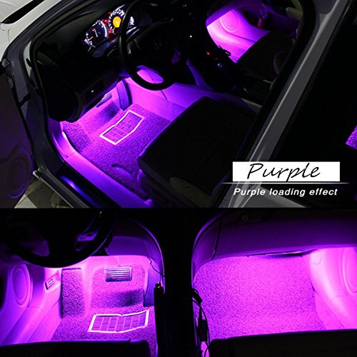 car interior lights glime 4 piece 12 led car atmosphere light interior underdash lighting kit. Black Bedroom Furniture Sets. Home Design Ideas