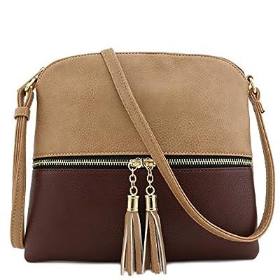 Tassel Accent Medium Crossbody Bag