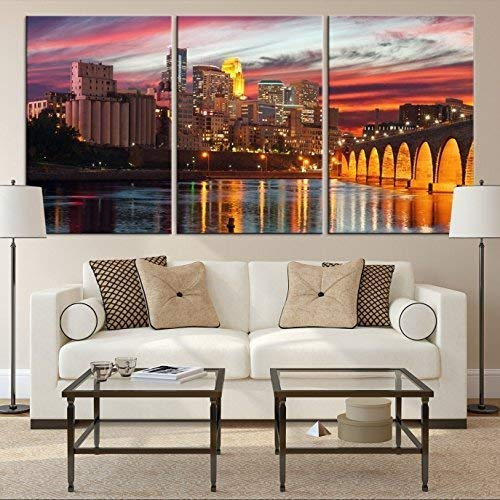 Minneapolis Minnesota Wall Art Print, Large Wall Art Minneapolis Skyline Canvas Print, Minneapolis Minnesota Wall Art Canvas Print,