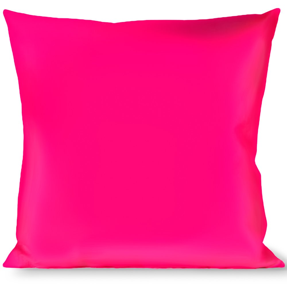 Buckle Down Throw Pillow, Neon Pink Print
