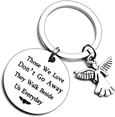 I hold you in my heart Loss keychain Angel watching over me Memorial keychain Hand stamped keychain loss of loved one