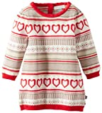 Petit Lem Baby-Girls Newborn Heart Knit Dress