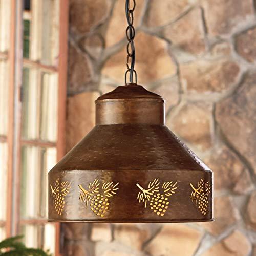 (BLACK FOREST DECOR Spruce Creek Pinecone Pendant Light)