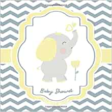 Balloon Sign In wce-pnkyl-bl-fl Pink and Yellow Elephant Baby Shower Guest Book Alternative Birthday Baby Shower