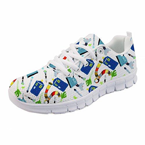 Sneakers Print Tennis Dental Running Air Mesh Nurse Lightweight Women's 5 IDEA Shoes HUGS OTnqAIpA