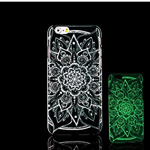 For iPhone 7 Plus Case, Glow in the Dark Black Mandala Datura Stramonium Pattern TomCase Fluorescent Back Cover for iPhone 7 Plus Case 5.5 inch, P13