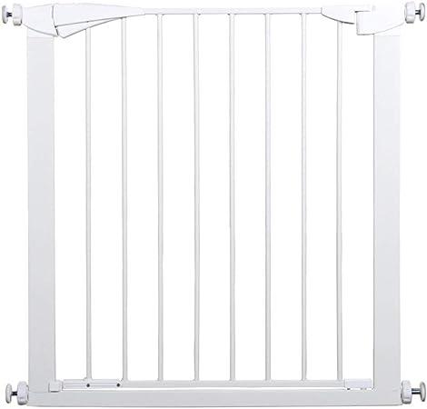 Rejilla de seguridad para niños, con función de bloqueo extensible, barrera para puertas, escaleras, pasillo, color blanco, 77-175 cm de ancho, 91 puertas de escalera alta: Amazon.es: Hogar