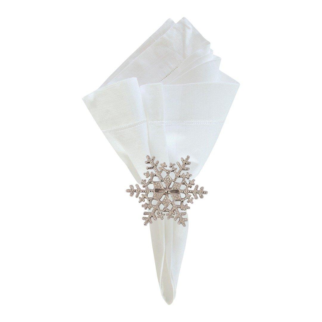 Snowflake Napkin Ring Set of 4 C & F