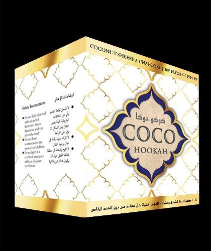 108 pcs Coco Hookah Coconut Charcoal Natural Coconut Hookah Shisha Coal Hookah Coals long lasting by Coco-Hookah