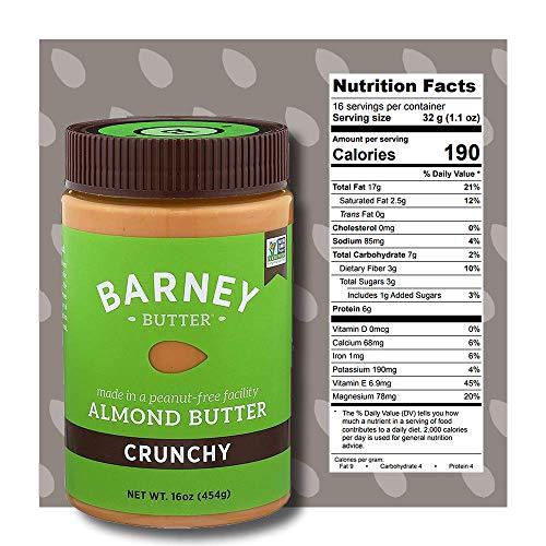 BARNEY Almond Butter, Crunchy, Paleo Friendly, KETO, Non-GMO, Skin-Free, 16 Ounce 4