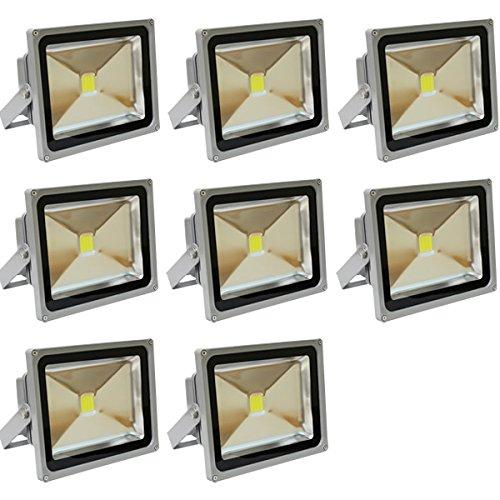 LED投光器 30W 電球色 (約3000K) 防水 8個セット B012Z2I7S2 19000